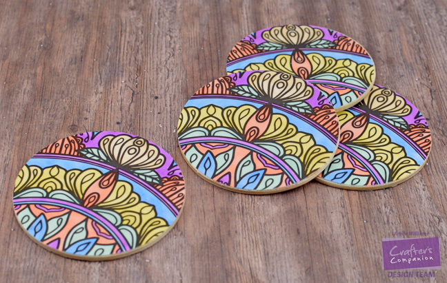 Colorista Drink Coasters by Annie Williams - Coasters