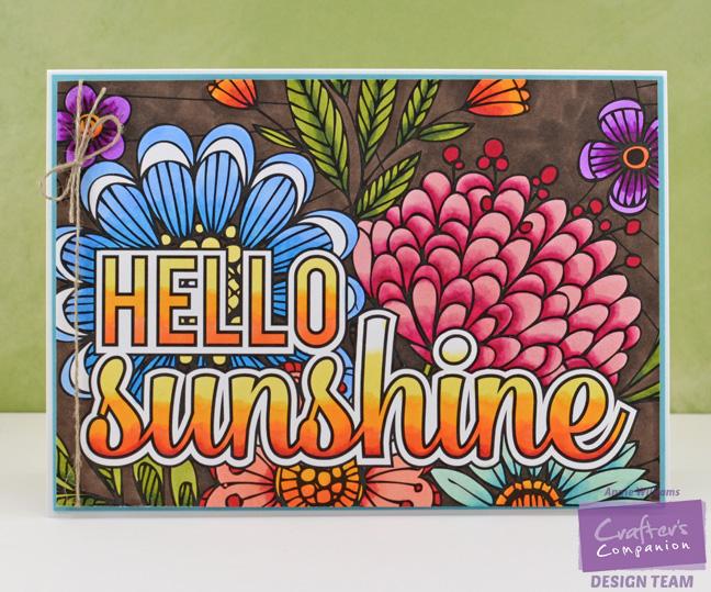 Colorista Hello Sunshine Card by Annie Williams - Full