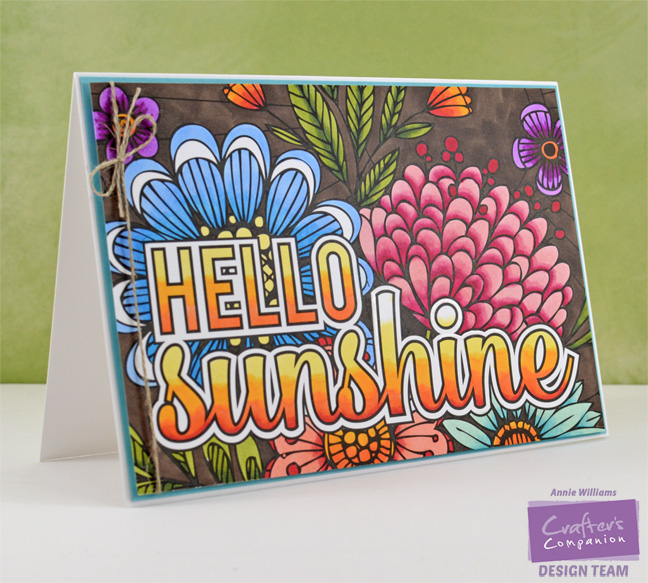Colorista Hello Sunshine Card by Annie Williams - Main