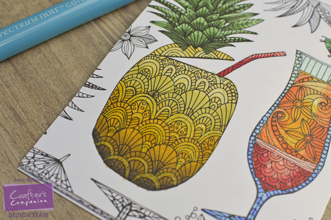 Colorista Pineapple Card by Annie Williams - Coloring Detail