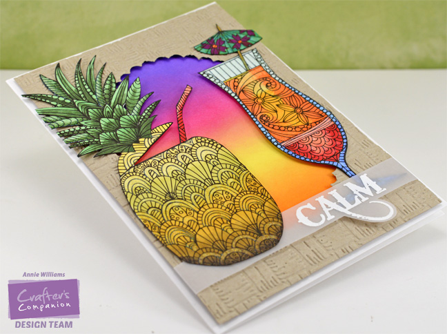 Colorista Pineapple Card by Annie Williams - Side