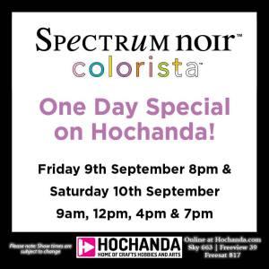 Spectrum Noir Colorista Hochanda Schedule