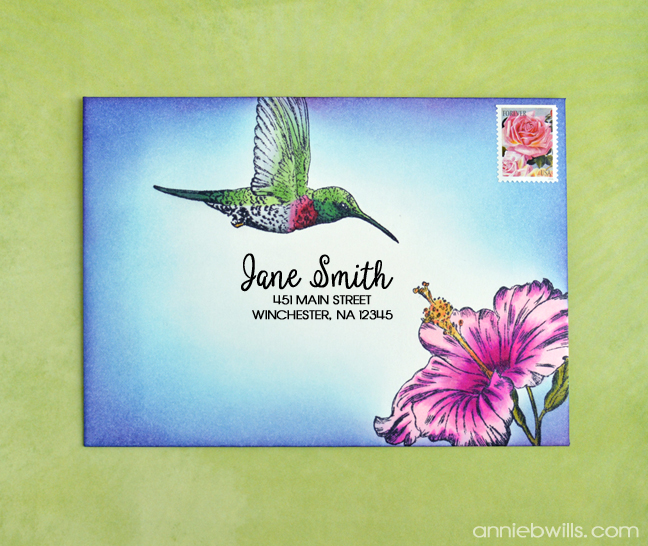 Hummingbird Mail Art by Annie Williams - Cryogen White