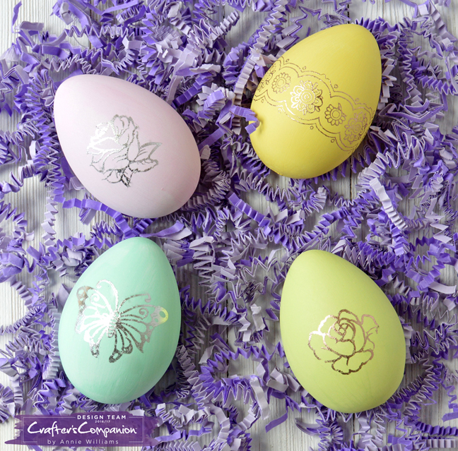 Foiling Easter Eggs With Adhesive Transfer Sheets Lab Hands
