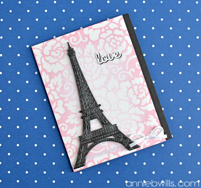 romantic french anniversary card lab hands
