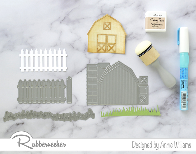 Rubbernecker Blog Country-Sunset-Scene-Card-by-Annie-Williams-Diecutting