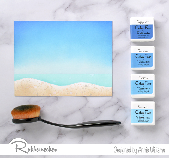 Rubbernecker Blog Inked-Tropical-Scene-Card-by-Annie-Williams-Background-Sky