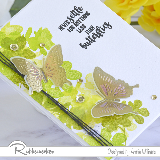 Rubbernecker Blog Loose-Watercolor-Butterfly-Cards-by-Annie-Williams-Foliage-Card-Detail