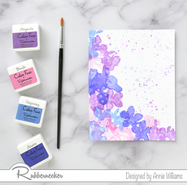 Rubbernecker Blog Loose-Watercolor-Butterfly-Cards-by-Annie-Williams-Hydrangea-Card-Background-Splatter