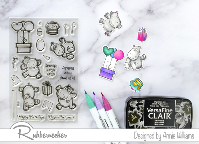 Rubbernecker Blog Hippo-Birthday-Slimline-Card-by-Annie-Williams-Coloring
