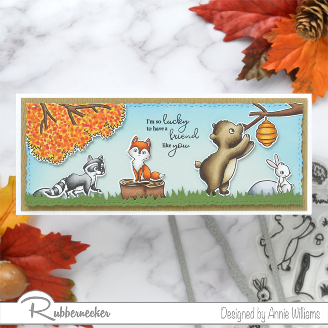 Rubbernecker Blog Autumn-Woodland-Slimline-Scene-Cards-by-Annie-Williams-Autumn-Critters-Final