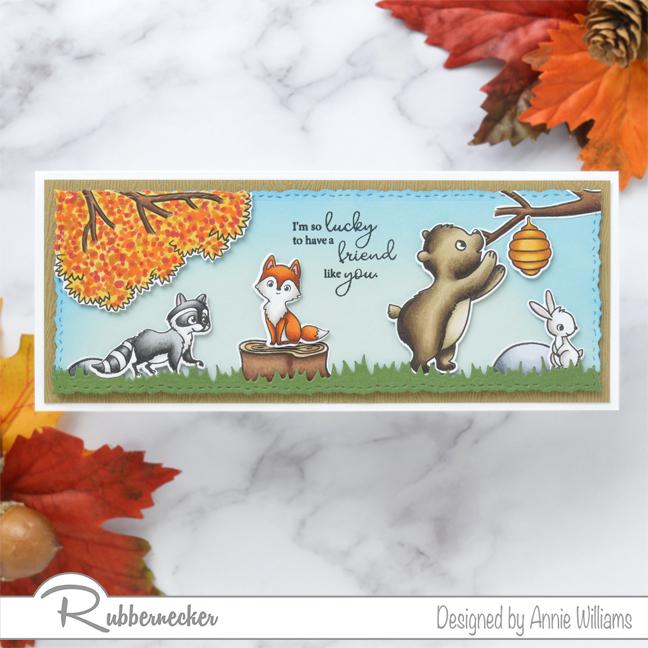 Rubbernecker Blog Autumn-Woodland-Slimline-Scene-Cards-by-Annie-Williams-Autumn-Critters