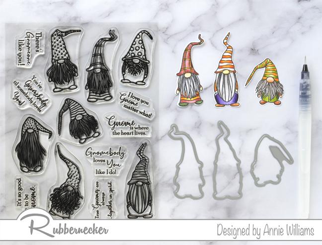 Rubbernecker Blog Autumn-Woodland-Slimline-Scene-Cards-by-Annie-Williams-Autumn-Gnomes-Coloring
