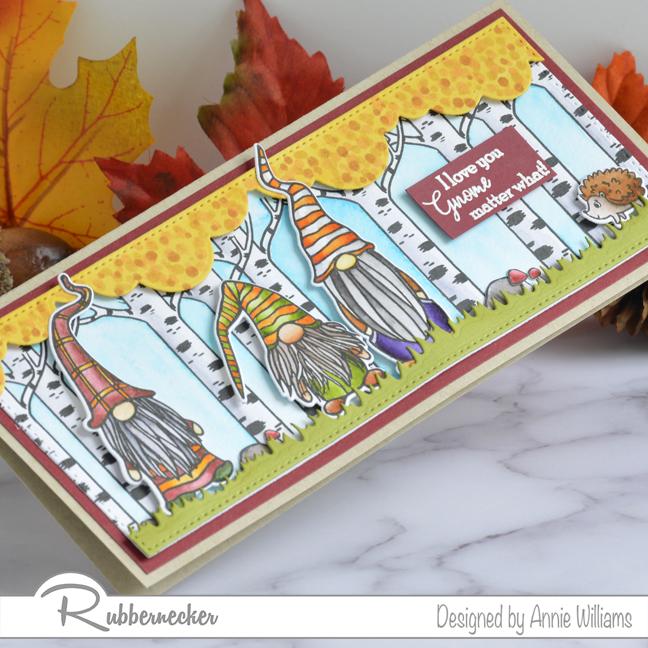 Rubbernecker Blog Autumn-Woodland-Slimline-Scene-Cards-by-Annie-Williams-Autumn-Gnomes-Detail