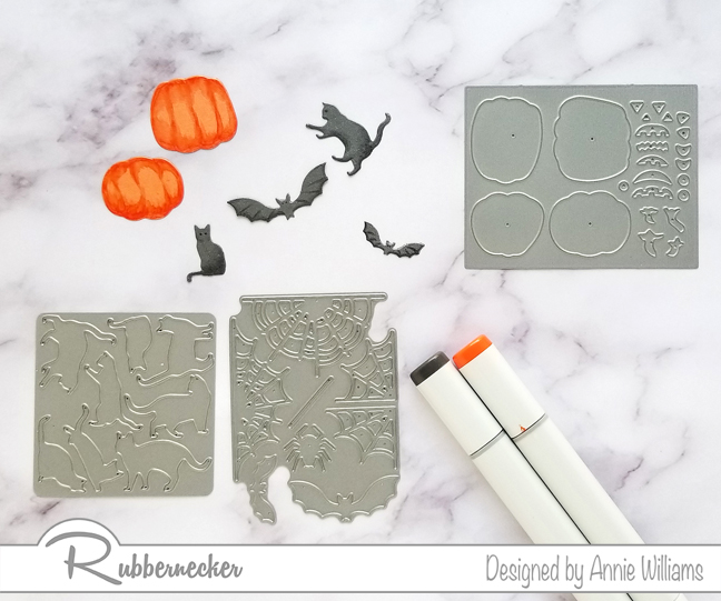 Rubbernecker Blog Spooky-Halloween-Slimline-with-Die-cuts-by-Annie-Williams-Coloring-Die-cuts
