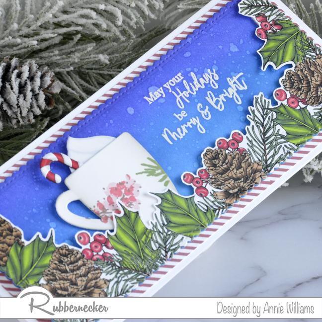 Rubbernecker Blog Christmas-Mug-Slimline-Card-by-Annie-Williams-Detail