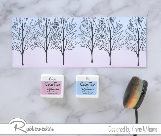 Rubbernecker Blog Snowman-Slimline-Card-by-Annie-Williams-Background