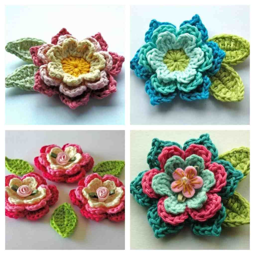 Blooming Crochet Flowers and Leaves – Free Crochet Pattern
