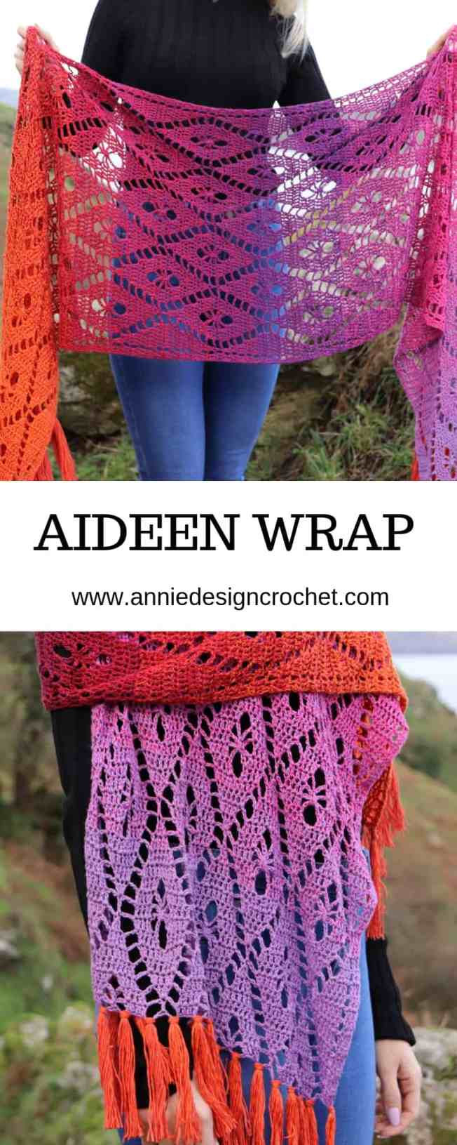 Crochet shawl made in Scheepjes Whirl from Annie Design