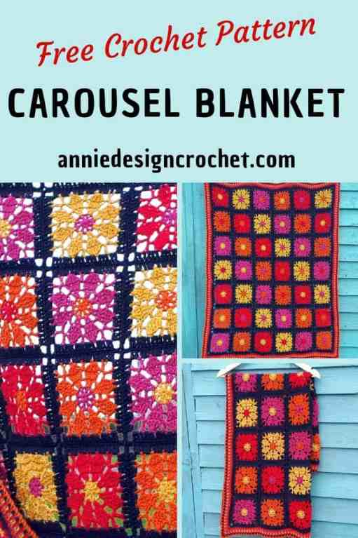Unique crochet squares make this modern crochet blanket very unusual. Free crochet pattern