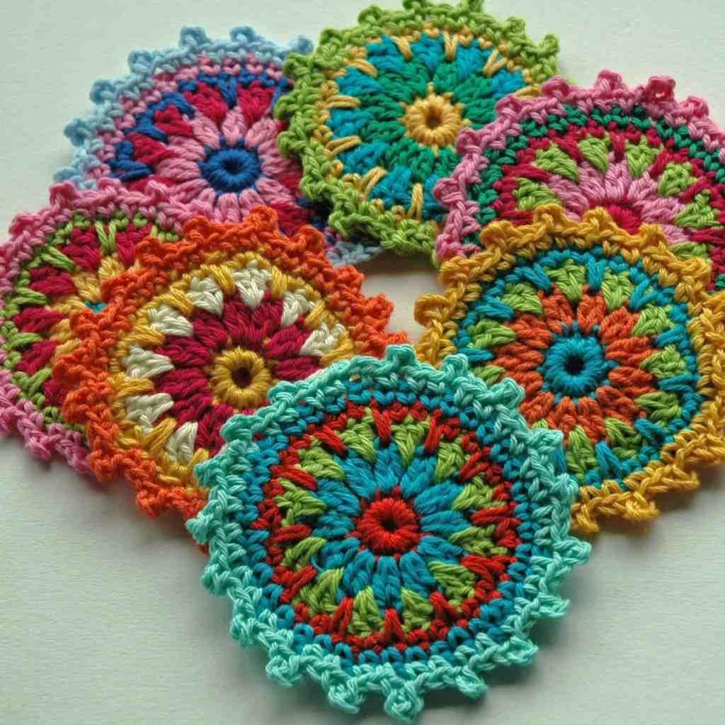 Flower Motif Coasters – Free Crochet Pattern
