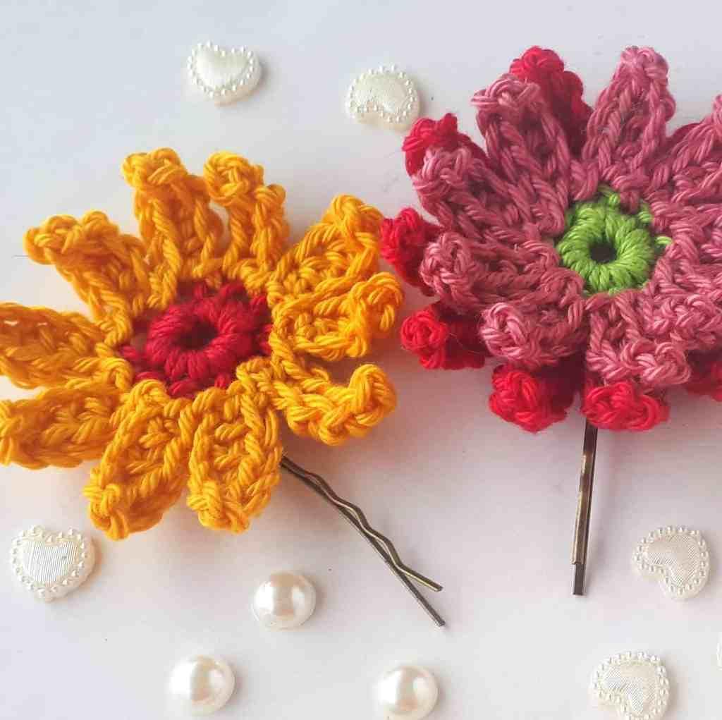 Gerbera Crochet Flowers – Free Crochet Pattern