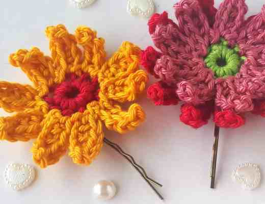 gerbera crochet flowers easy free pattern
