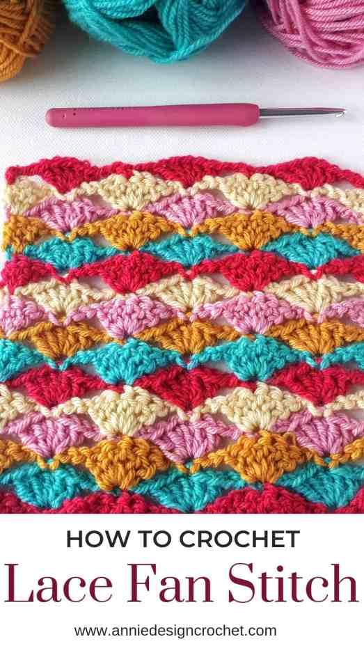 crochet stitch tutorial lace shell stitch