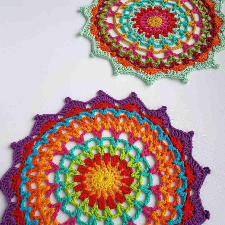 DIY Grey Mandala in ring 12 inch30 cm Doily Crochet Pattern Instant Download