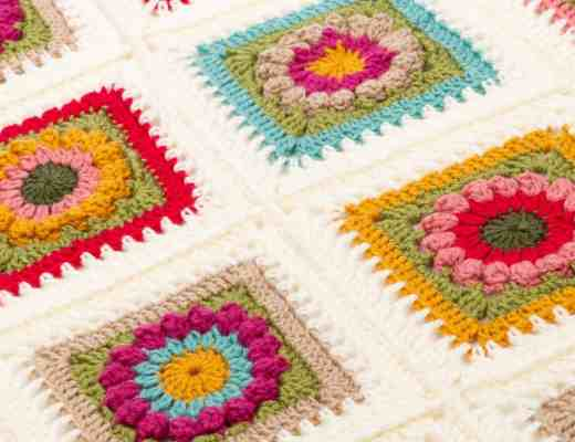 crochet flower blanket free pattern