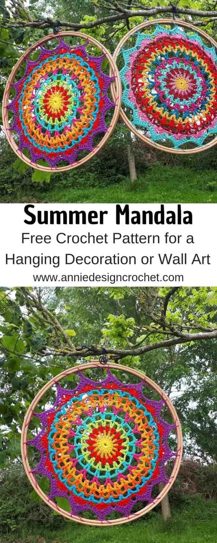 crochet mandala free pattern dream catcher wall art