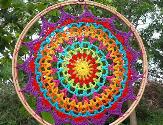 crochet mandala dream catcher free pattern