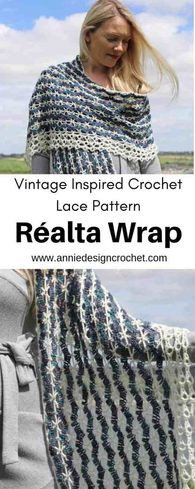 crochet lace wrap pattern