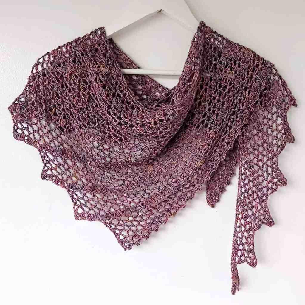 One Skein Crochet Shawl Pattern – Tendril