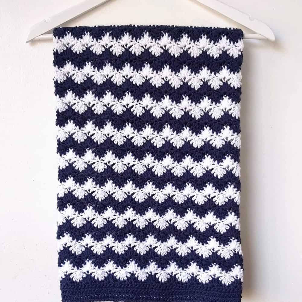 Crochet Nautical Baby Blanket – Free Pattern