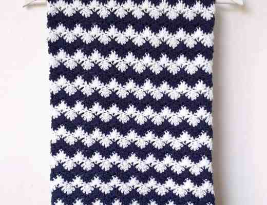 nautical crochet blanket free pattern