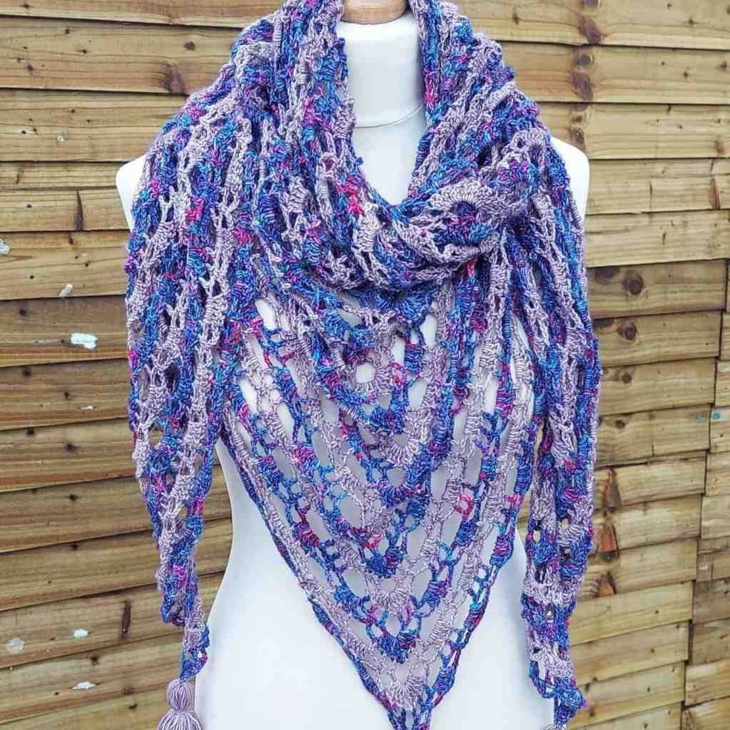 Crochet Lace Shawl Pattern – Faded Blooms