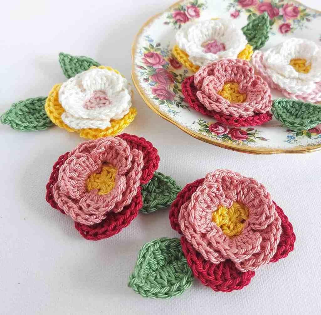 3d Crochet Flowers Pattern