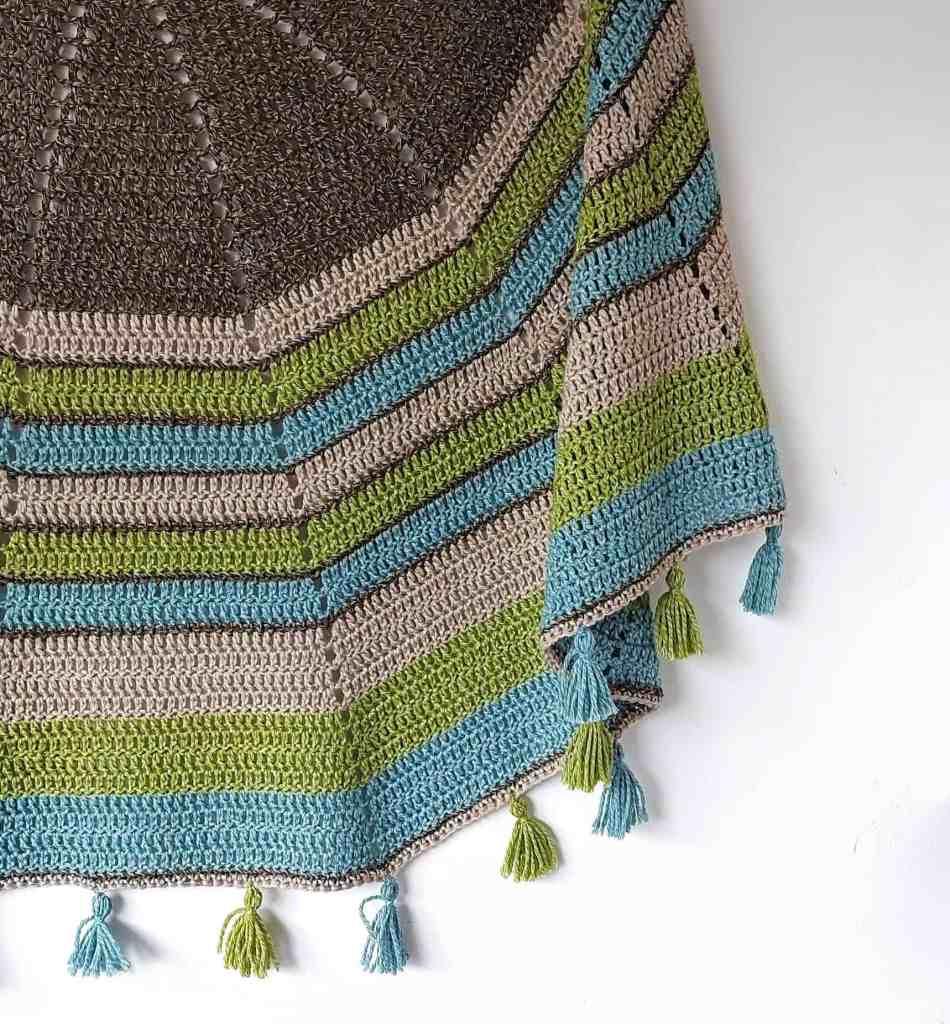 Half Circle Crochet Shawl – Spring Heather