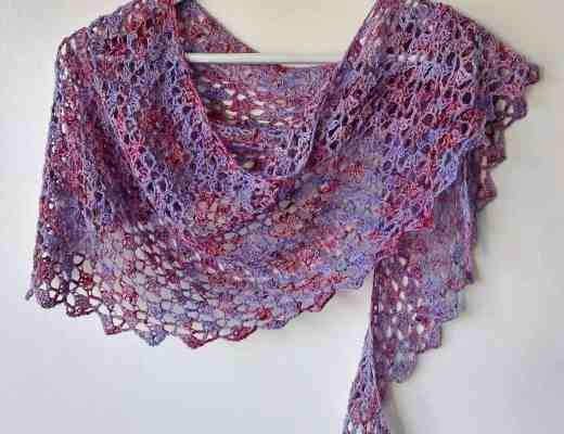 easy one skein crochet shawl