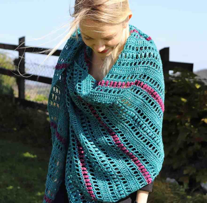 asymmetrical triangle crochet shawl