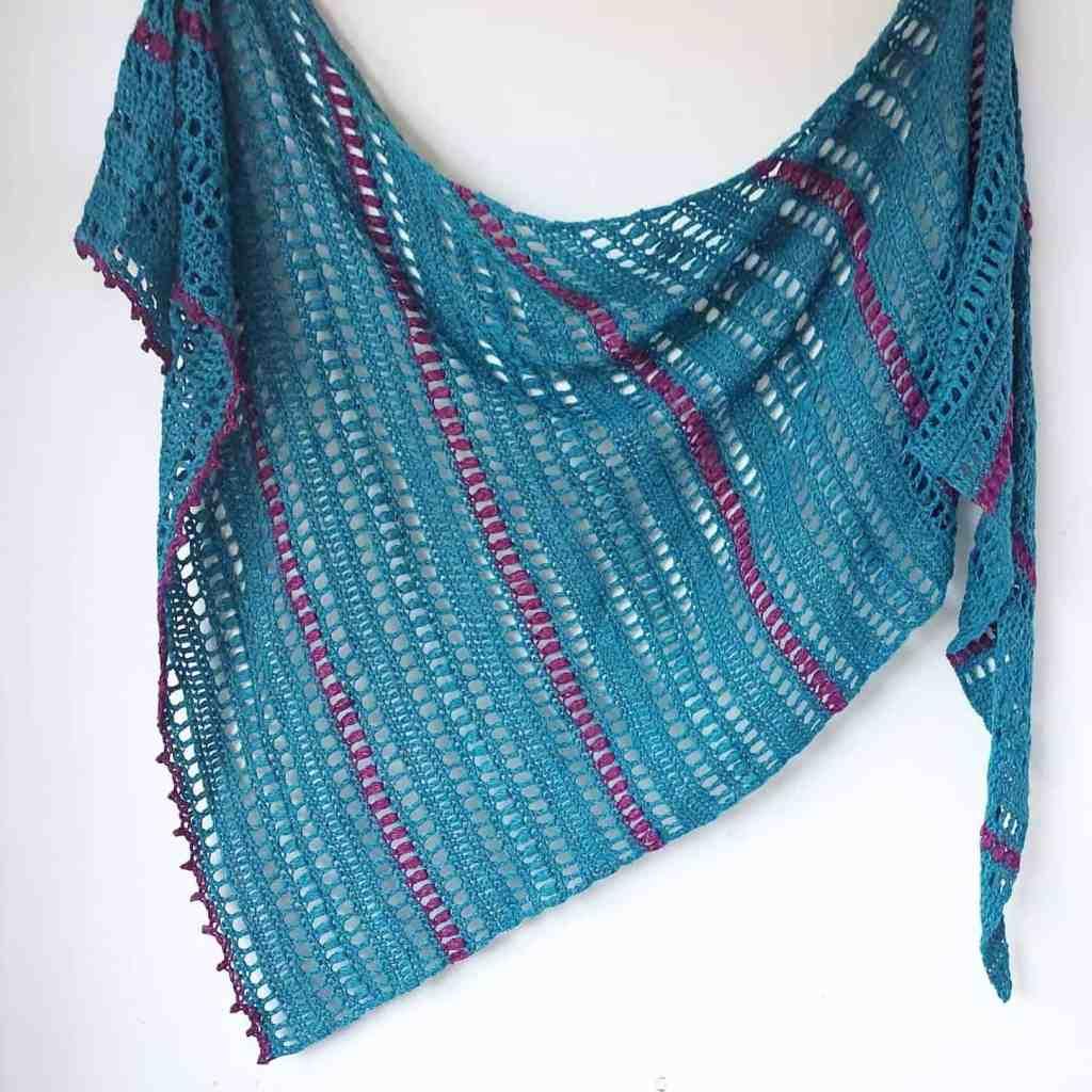 Asymmetrical Triangle Crochet Shawl – Jade and Roses