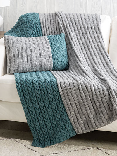 koonce pillow throw knit pattern