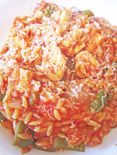 Orzo with Chicken in a Tomato Sauce