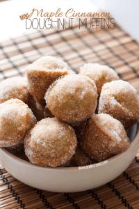 Maple and Cinnamon Doughnut Muffins