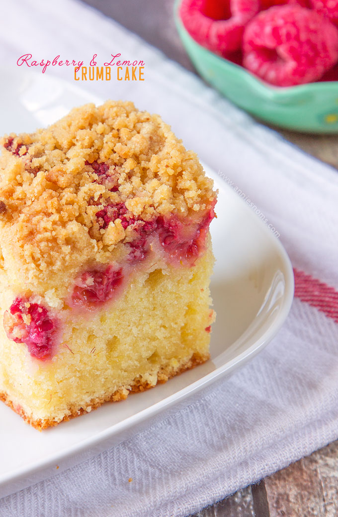 My incredibly soft and flavourful Raspberry and Lemon Crumb Cake is ...