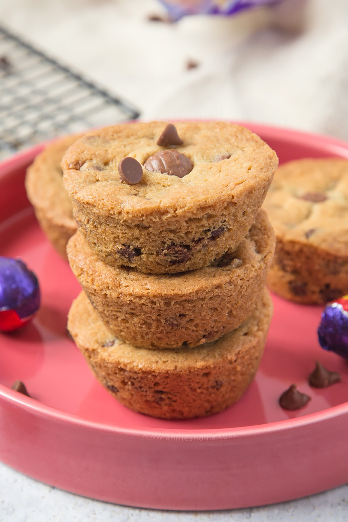 Soft and chewy chocolate chip cookies stuffed with a mini Cadbury Creme Egg. The perfect, easy Easter bake!