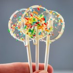 These Sprinkle Lollipops are quick to make and filled with sugar strands and sprinkles. They are just perfect for any celebration! #ad