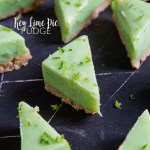A quick and tasty recipe for fudge with all the flavours of a Key Lime Pie. This easy recipe requires no candy thermometer and is ready to eat in under ninety minutes!