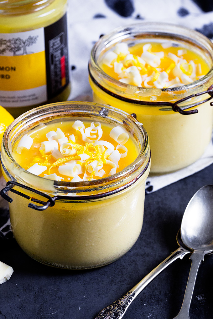 These blender White Chocolate and Lemon Pots de Creme are easy to make and taste sublime. They look impressive, but no one need know how easy they are to make!